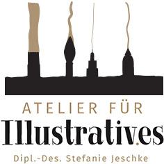 Logo - Atelier für Illustratives - Dipl. Designerin Stefanie-Jeschke
