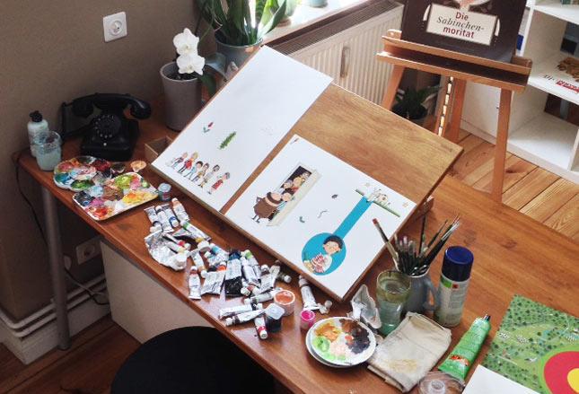 Atelier der Illustratorin Stefanie Jeschke