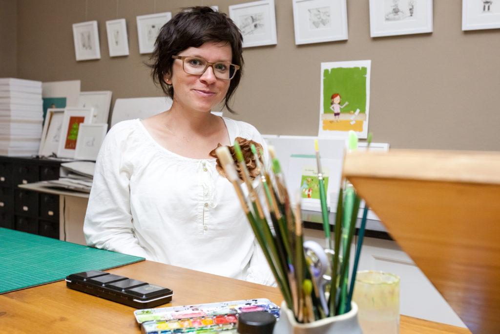 Stefanie Jeschke im Atelier für Illustratives